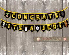 Star Wars Baby Shower Bunting Banner (Congrats, It's A Jedi) INSTANT DOWNLOAD