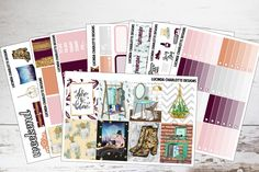 Urban | Weekly Planner Sticker Kit by LucindaCharlotte on Etsy https://www.etsy.com/uk/listing/549109014/urban-weekly-planner-sticker-kit