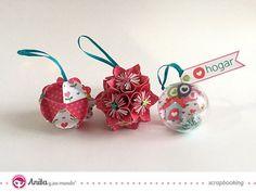 bolas de navidad hechas con papel paso a paso