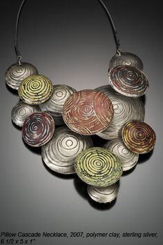 Necklace |  Ford Forlano (2007) polymer clay & sterling silver.  http://www.fordforlano.com