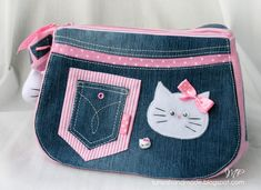 Hello Kitty blue jean bag with pattern ♥ this bag