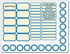 Do-it-Yourself Recipe Cards and Labels | Family Economics