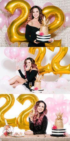 Adult birthday photoshoot, adult birthday cake smash, pineapple cake. mylar balloons Adult cake smash photo. #CakeSmash #BirthdayCake Carrie Mcguire photography http://carriemcguire.com/blog-temecula-photography/2016/11/16/look-whos-22