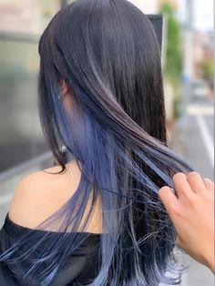 Under Hair Dye, Under Hair Color, Hidden Hair Color, Hair Color Underneath, Pretty Hair Color, Hair Color For Women, Hair Color For Black Hair, Blue Hair, Hair Color Streaks