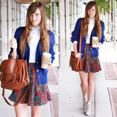 Cobalt + coffees.  (by Steffy Kuncman) http://lookbook.nu/look/4108198-cobalt-coffees