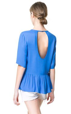 TOP WITH FRILL AND LOW NECKLINE AT THE BACK from Zara