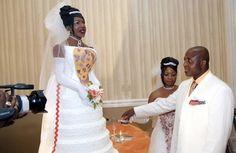 life-sized replica of the bride.