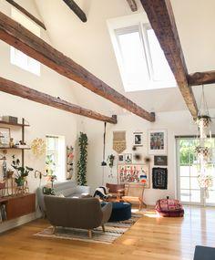 A Nordic Bohemian Farmhouse with Soaring Ceilings | Design*Sponge