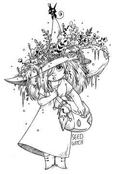 Seed Witch by secondlina.deviantart.com on @DeviantArt
