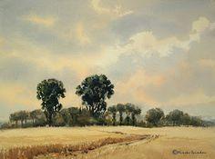 Por amor al arte: Mineke Reinders Watercolor Sky, European Paintings, Gouache Painting, Natural, Country Roads, Masters, Albums, Houses, Amor