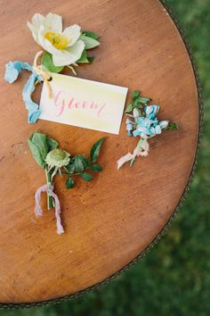 Everyone loves a good neutral and greenery bouquet, but when photographer Kati Mallory asks you to complete her flower power vision for a bright and summery southern elopement, you make it happen! Nothing screams summer like some bright, punchy blooms! It's like sangria in flower form. It doesn't take much to make a wedding feel personal. Some thoughtful table settings, unique invitations, and signature blooms makes wedding magic every time! Spring Wedding Flower Inspiration, Spring Wedding Flowers, Flower Bouquet Wedding, Floral Wedding, Succulent Boutonniere, Wedding Boutonniere, Unique Invitations, Zimmerman, Flower Centerpieces