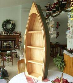 Row boat bookcase