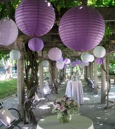 Toute ma déco de mariage en violet !