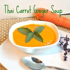 Mom, What's For Dinner?: Thai Ginger Carrot Soup Now I know what to do with all of my carrots