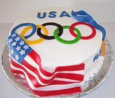 USA Olympics Cake