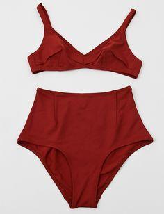 Laura Urbinati 50's High Waist Bikini- Brick