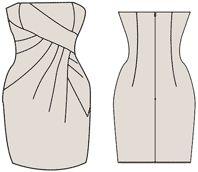 """Exempel på modeller som utvecklats på grundval av klänningar utformat i """"Cutter"""""""