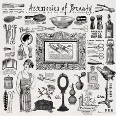30 Vintage Style Illustrations ~ download