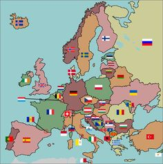 World flags on a map maps pinterest flags geography and match the flags to the european country flags fun geography gumiabroncs Choice Image