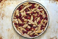 Barefeet In The Kitchen: Cranberry Apple Tart