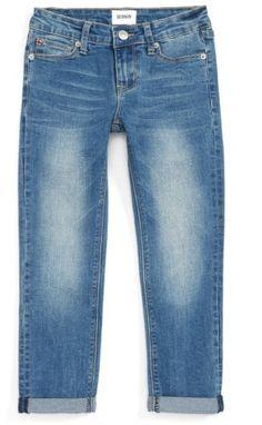 Girl's Hudson Kids Rolled Crop Skinny Jeans