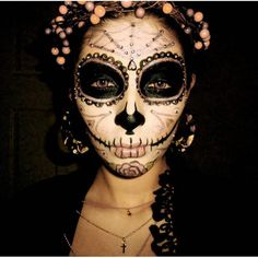 day of the dead makeup by sephora halloween face paint pinterest maquillage maquillage. Black Bedroom Furniture Sets. Home Design Ideas