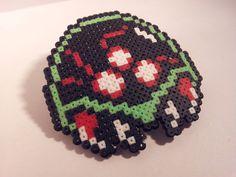 Hama bead Metroid Hairclip by Retr8Bit on Etsy, £4.99