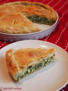 It All Tastes Greek To Me: The Greek Pie - Make your own Phyllo Dough Pita Recipes, Greek Recipes, Cooking Recipes, Cypriot Food, Greek Pita, Greek Pastries, Greek Appetizers, Spinach Pie, Homemade Pastries