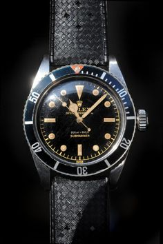 The Rolex Submariner in its early pre-1970's glory.