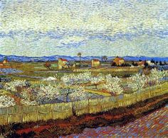 Peach Trees in Blossom 1889 - Vincent van Gogh
