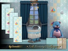 Sims 4 CC's - The Best: Kids Nursery Wallpaper by Emerald