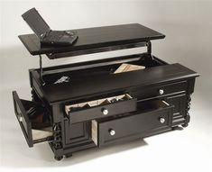black coffee table with storage - Google Search