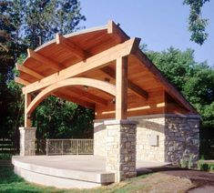 Rafter Support Beams | This timber frame uses traditional post and beam design with a glulam ...