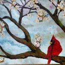 Spring Cardinal by EnserCreations on Etsy, $75.00