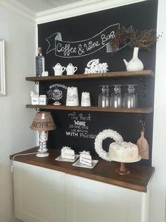 Wine And Coffee Bar, Coffee Bar Home, Coffee Area, Coffee Room, Cocoa Bar, Cafe Bar, Decoration, Condo, Dining