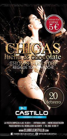 chicas pelea de chocolate Club, Chocolate, Movie Posters, Movies, Castles, Fiestas, Presents, Girls, 2016 Movies
