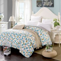 only Duvet cover 100% Cotton Fabric printed bedding case queen king twin Full size Quilt/Comforter Cases/Bag