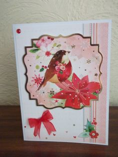 Hunkydory card from the kit Love Christmas.