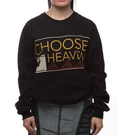 Choose Heaven Christian T-Shirts for Sale- Purchase Today and we make a donation in your name- help those in need- stop homelessness Heaven, Christian, My Love, Sweatshirts, Sweaters, Ss, T Shirt, How To Wear, Clothes