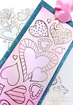 A fun way to use printables! Watercolored Valentine Heart Bookmark Printable DIY Bookmark for Valentine's Day Valentines Games, Valentine Day Crafts, Valentine Ideas, Saint Valentine, Easy Yarn Crafts, Baby Crafts, Kid Crafts, Creative Crafts, Diy Bookmarks