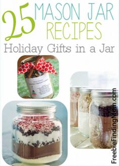Mason Jar Recipe | 25 Gifts In A Mason Jar - DIY Gift World