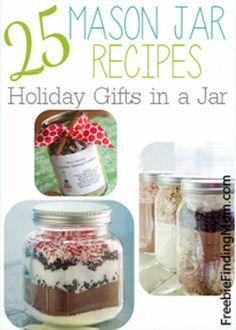 Mason Jar Recipe   25 Gifts In A Mason Jar - DIY Gift World