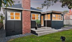 This week we look at former state houses available around the $1 million mark. Home Remodeling Contractors, Home Improvement Contractors, 1960s House Renovation, New Zealand Architecture, Bungalow Exterior, House Entrance, House Extensions, Exterior Paint, House Renos