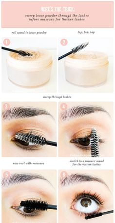 Are You Applying Your Mascara The Right Way? Do you have lash envy? Then it's time to master your mascara and get the look you've been craving. Long, curly, and full lashes that go on for days. Genius Makeup Hacks, Diy Beauty Hacks, Makeup Tips, Beauty Makeup, Eye Makeup, Beauty Tips, Beauty Care, Beauty Skin, Beauty Products