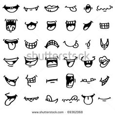Cartoon Drawing Tips hand draw cartoon mouth icon - Doodle Drawings, Cartoon Drawings, Easy Drawings, Doodle Art, Drawing Cartoon Characters, Doodle Icon, Cartoon Mouths, Cartoon Eyes, Cartoon Smile