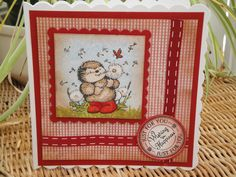Card I made using a free stamp from a craft magazine