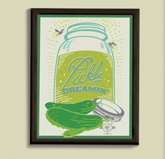 A beautiful print to hang in your kitchen.
