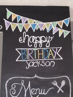 Happy Birthday Chalkboard Art