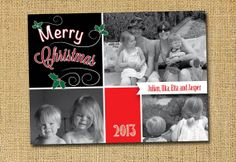 Bespoke photo Christmas card by Dickens ink.