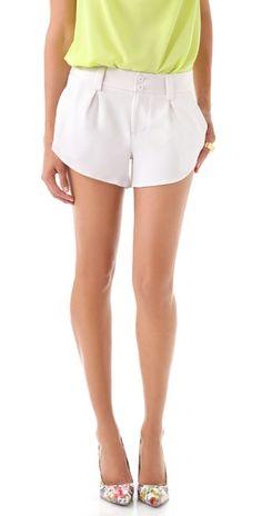 alice and olivia white shorts